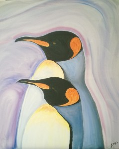 King Penguin Couple , inspired by the Movie
