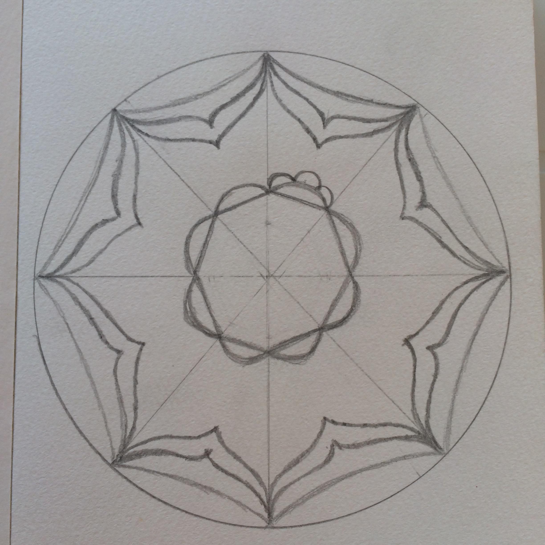 Adım Adım Mandala çizimi Göz Kararı El Yordamı Yoga Reiki And