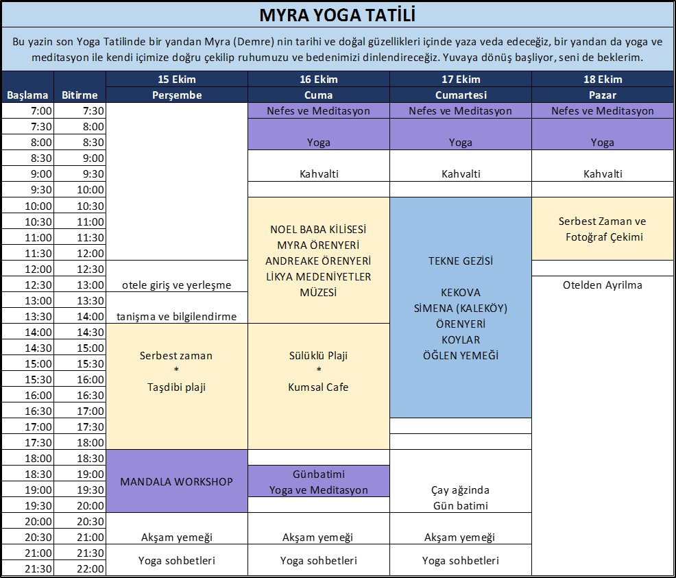 Myra Yoga Program